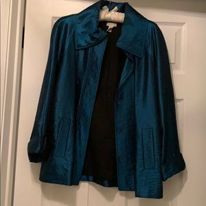 Shimmery teal green Chico's dinner jacket - size 1